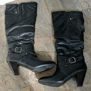 Rampage Elesa Black Heeled Boots